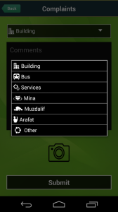 hajj umrah complaints menu